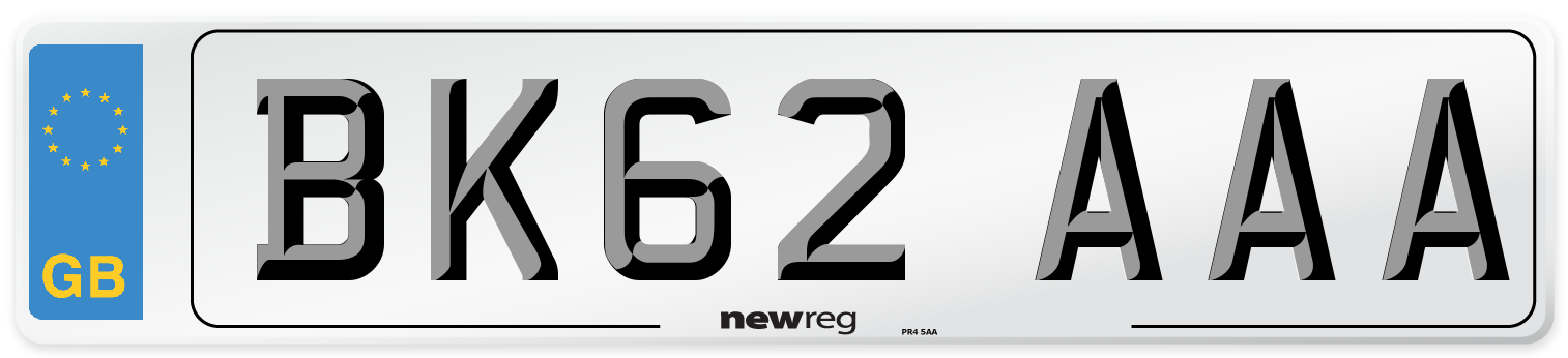 BK62 AAA Number Plate from New Reg