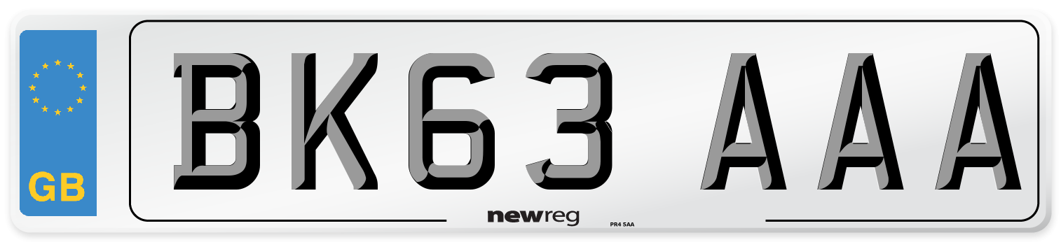 BK63 AAA Number Plate from New Reg