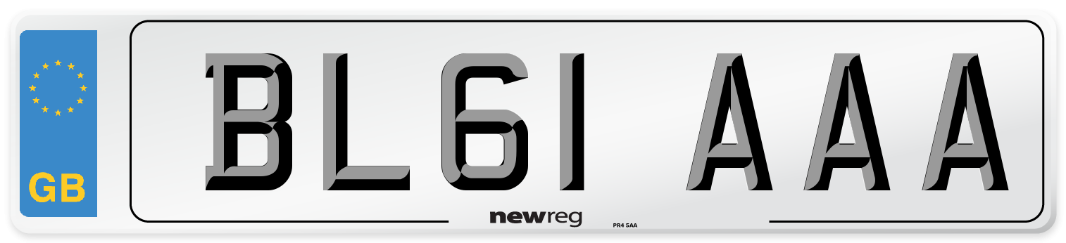 BL61 AAA Number Plate from New Reg