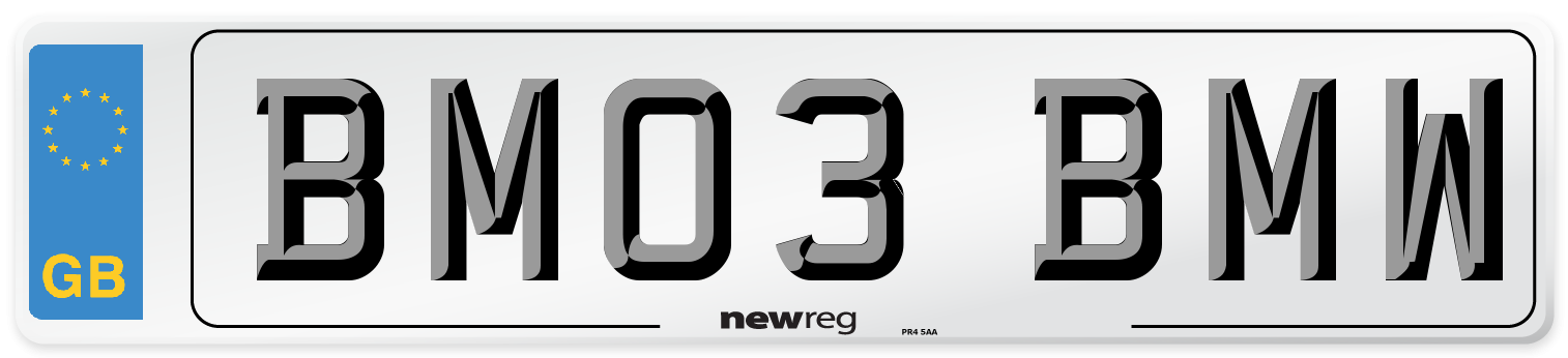 BM03 BMW Number Plate from New Reg