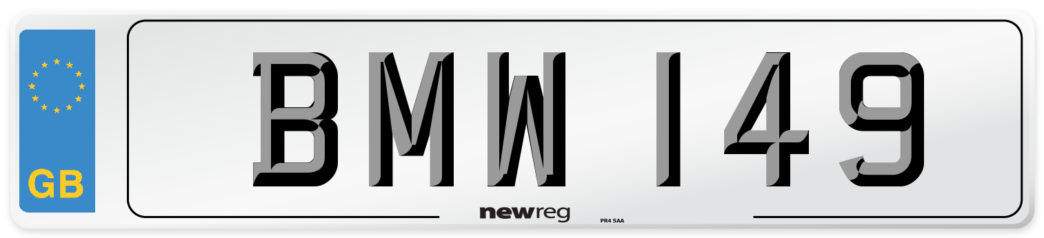 BMW 149 Number Plate from New Reg