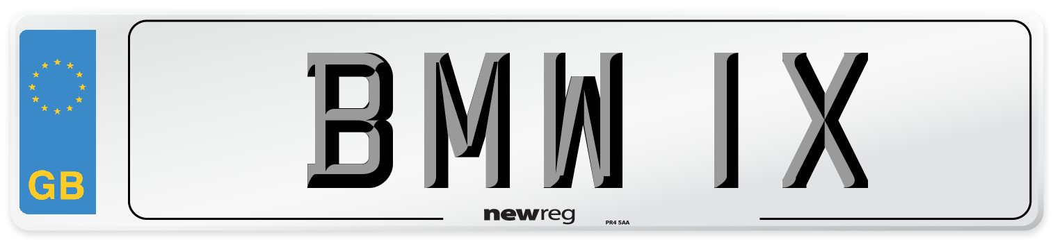 BMW 1X Number Plate from New Reg