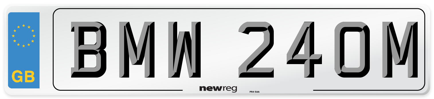 BMW 240M Number Plate from New Reg