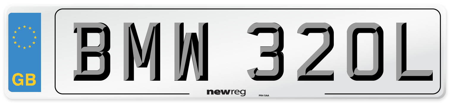 BMW 320L Number Plate from New Reg