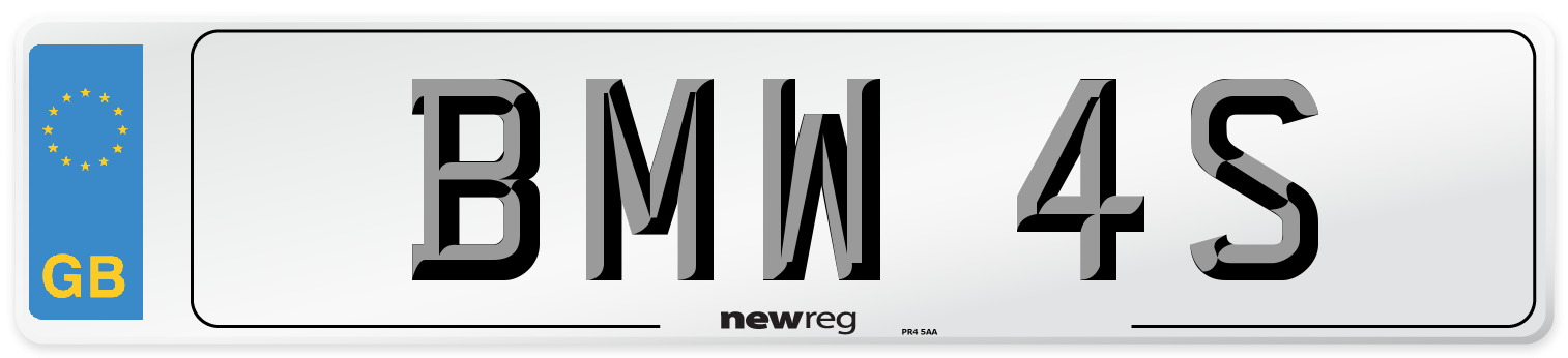 BMW 4S Number Plate from New Reg