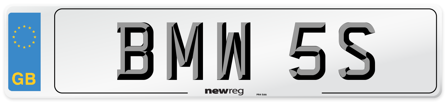 BMW 5S Number Plate from New Reg