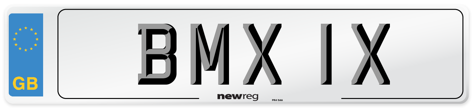BMX 1X Number Plate from New Reg