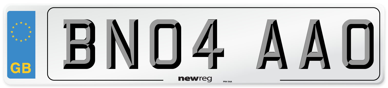 BN04 AAO Number Plate from New Reg