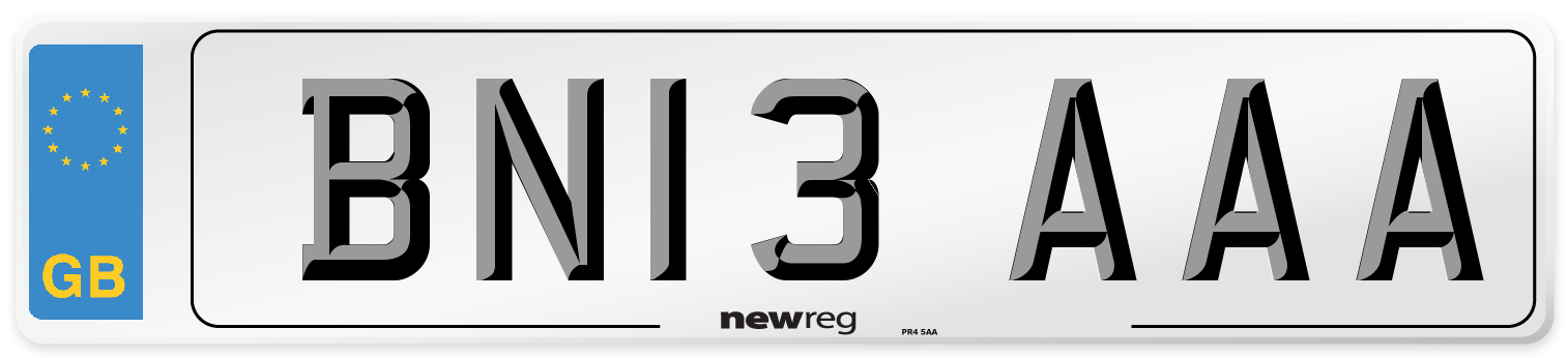 BN13 AAA Number Plate from New Reg