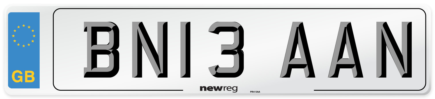 BN13 AAN Number Plate from New Reg