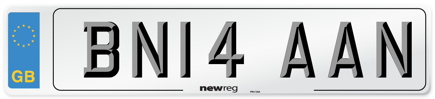 BN14 AAN Number Plate from New Reg