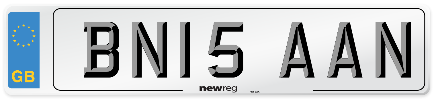 BN15 AAN Number Plate from New Reg