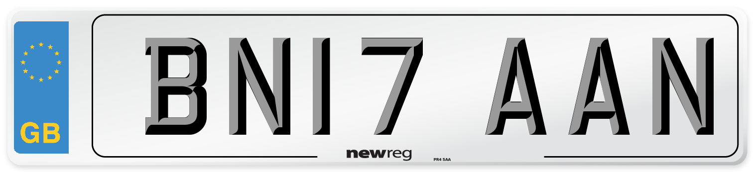 BN17 AAN Number Plate from New Reg