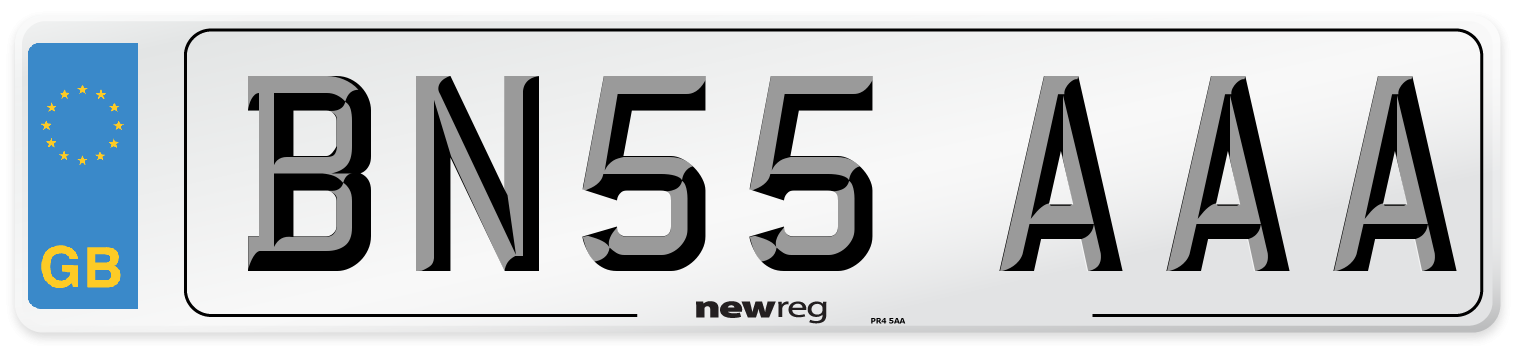 BN55 AAA Number Plate from New Reg