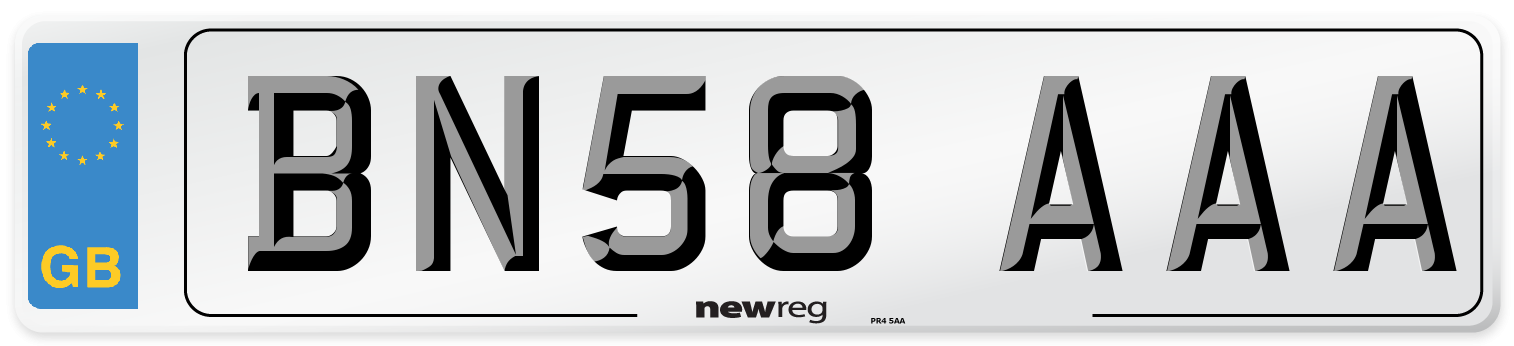 BN58 AAA Number Plate from New Reg
