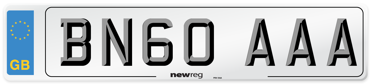 BN60 AAA Number Plate from New Reg