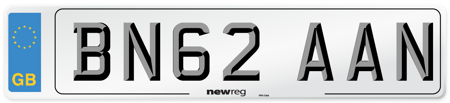 BN62 AAN Number Plate from New Reg
