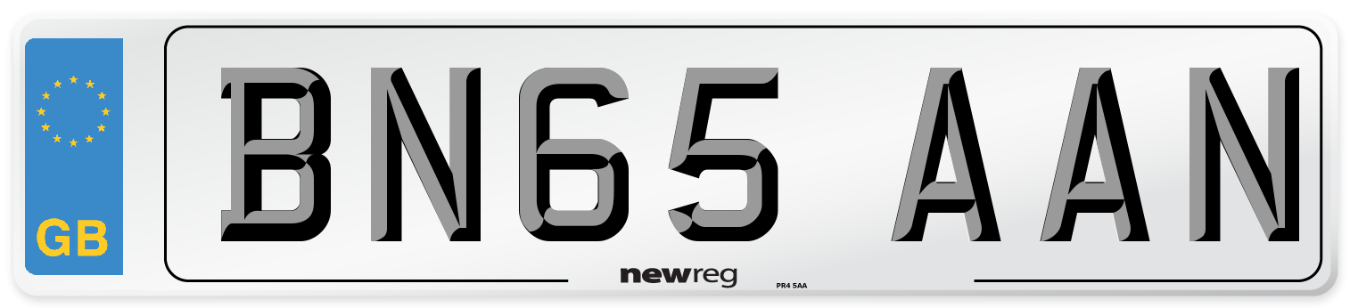 BN65 AAN Number Plate from New Reg