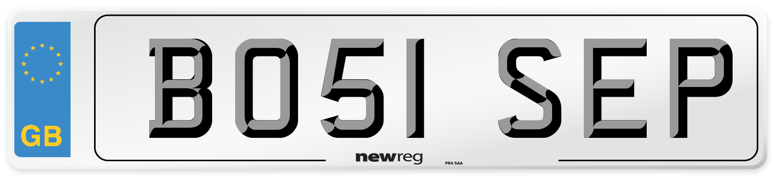 BO51 SEP Number Plate from New Reg
