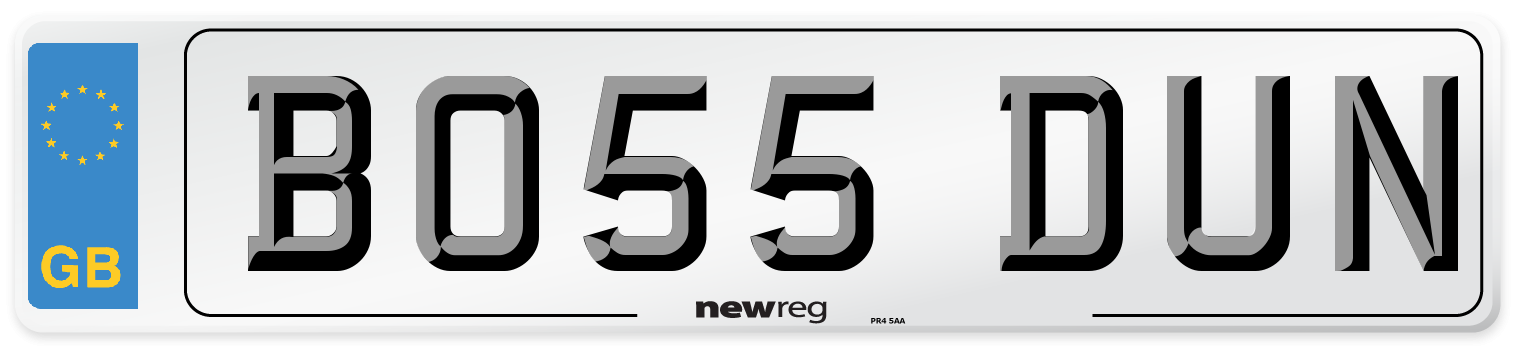 BO55 DUN Number Plate from New Reg