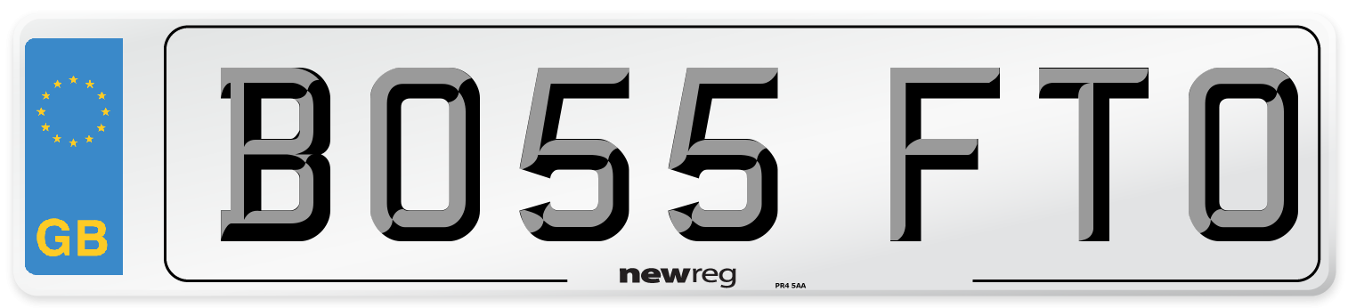 BO55 FTO Number Plate from New Reg