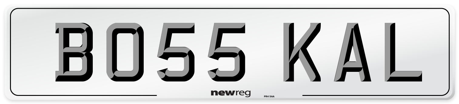 BO55 KAL Number Plate from New Reg