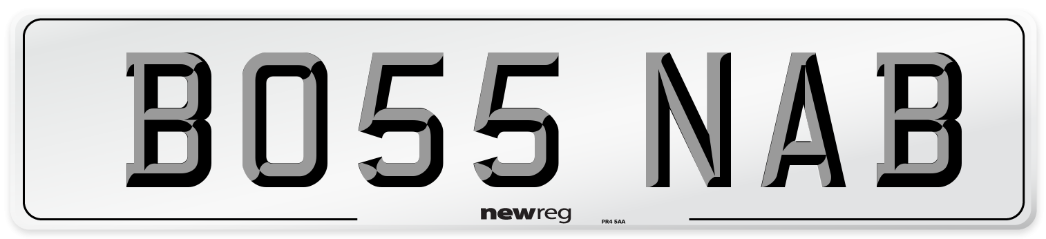 BO55 NAB Number Plate from New Reg