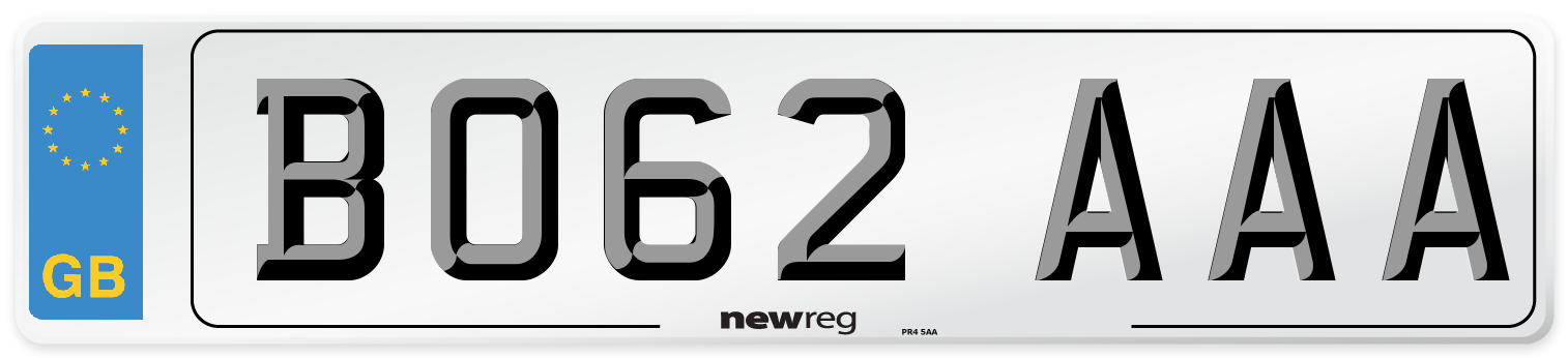 BO62 AAA Number Plate from New Reg