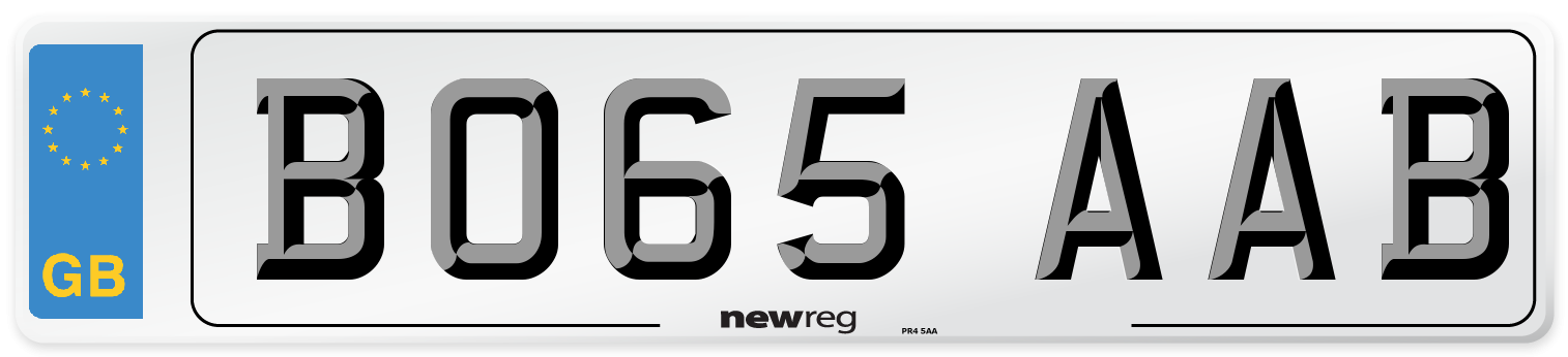 BO65 AAB Number Plate from New Reg