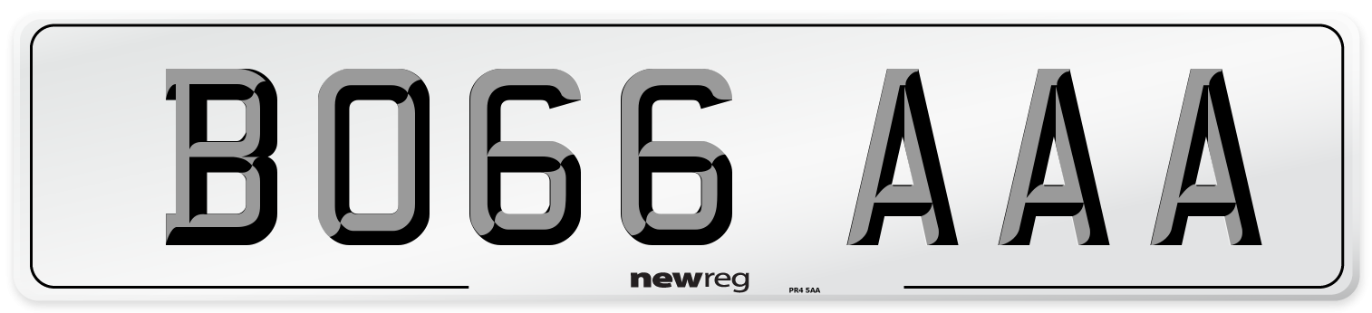 BO66 AAA Number Plate from New Reg