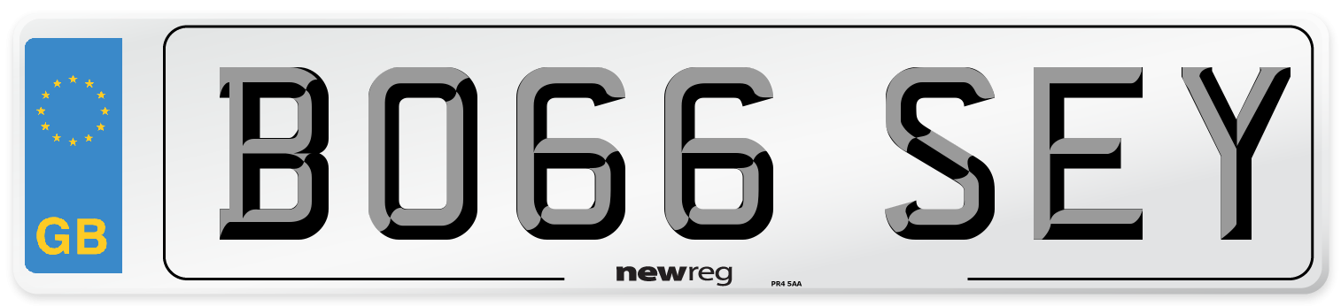 BO66 SEY Number Plate from New Reg