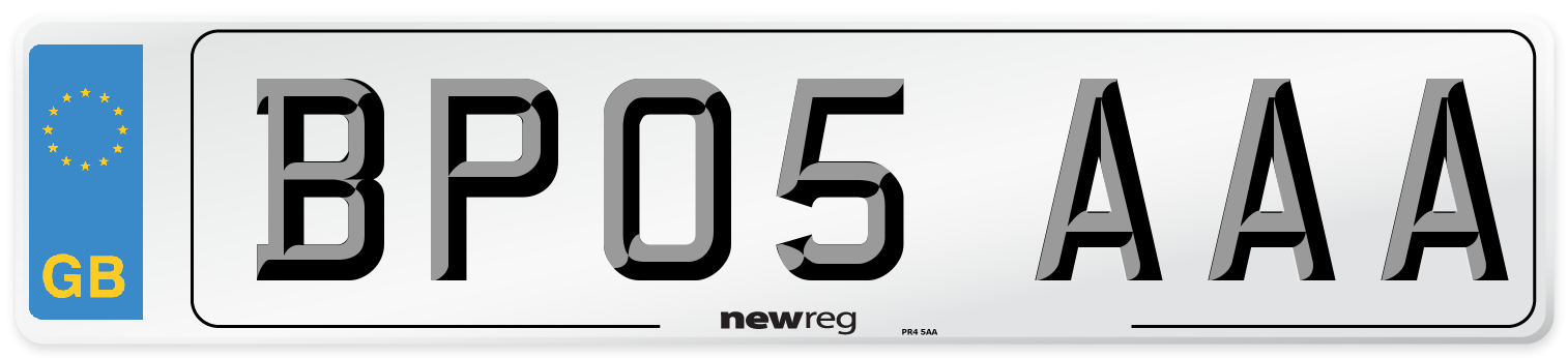BP05 AAA Number Plate from New Reg