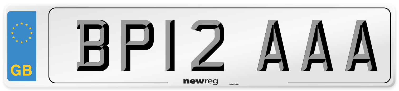 BP12 AAA Number Plate from New Reg