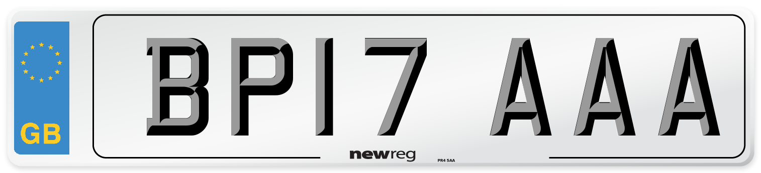 BP17 AAA Number Plate from New Reg