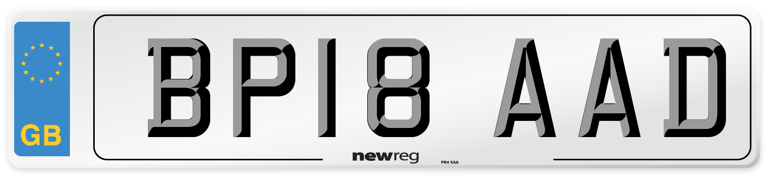 BP18 AAD Number Plate from New Reg