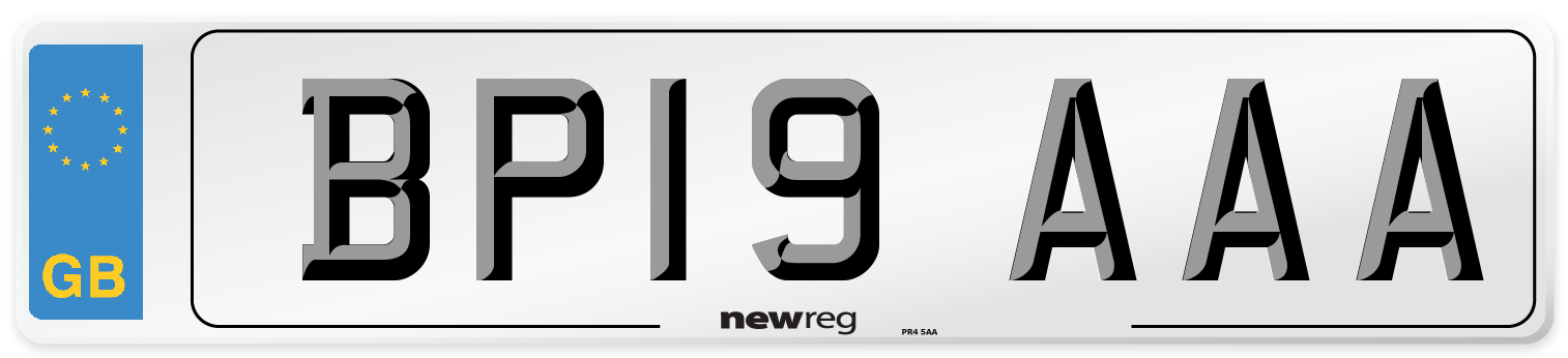 BP19 AAA Number Plate from New Reg