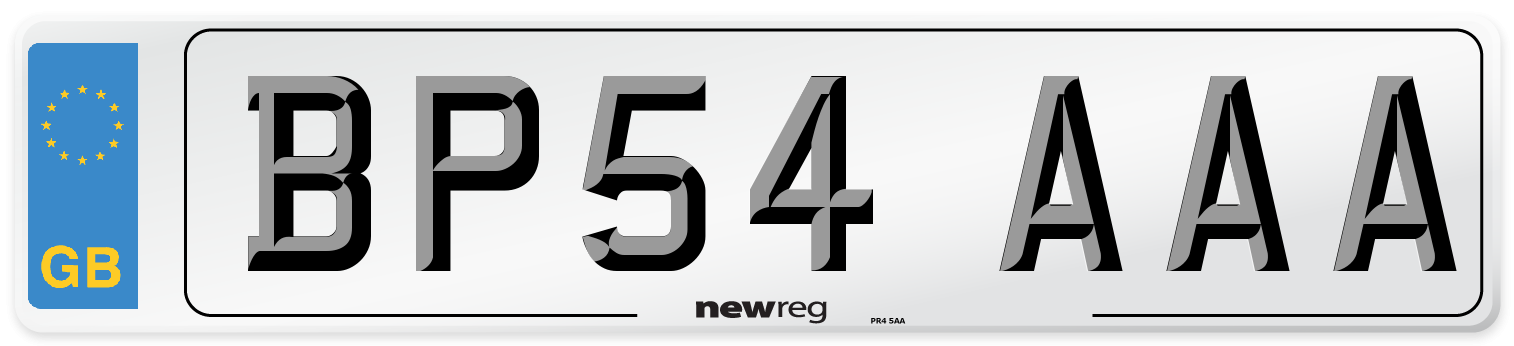 BP54 AAA Number Plate from New Reg