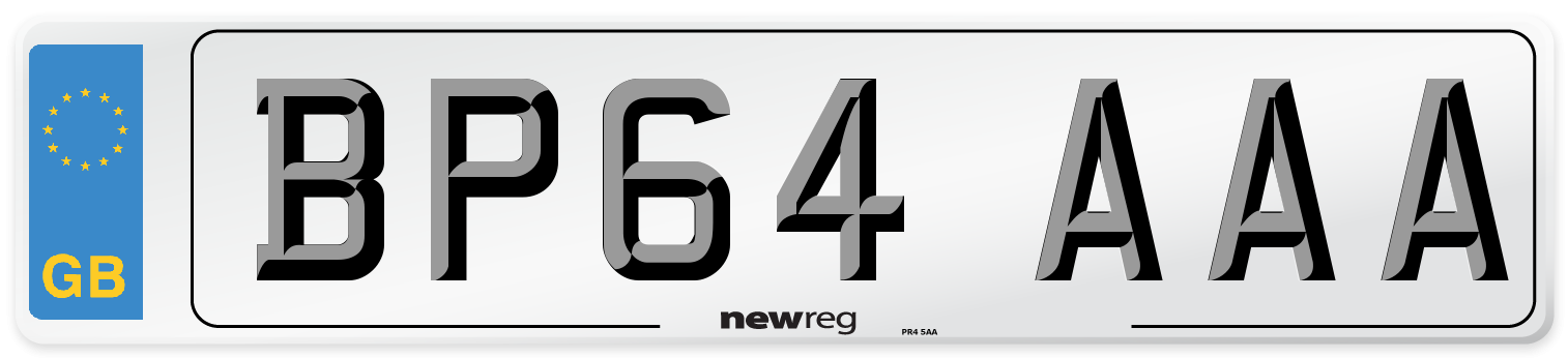 BP64 AAA Number Plate from New Reg