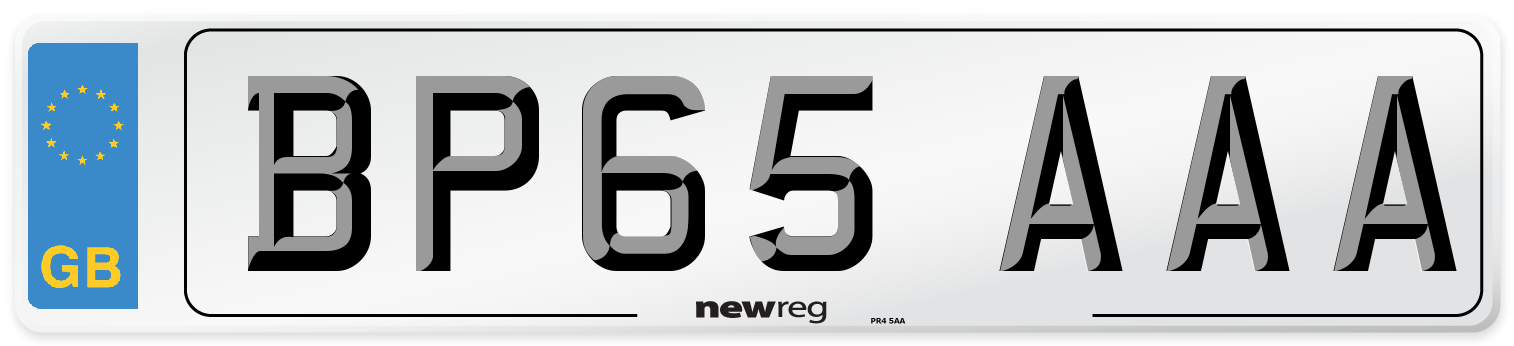 BP65 AAA Number Plate from New Reg