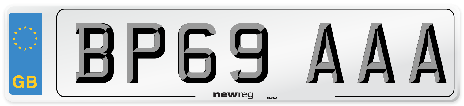BP69 AAA Number Plate from New Reg