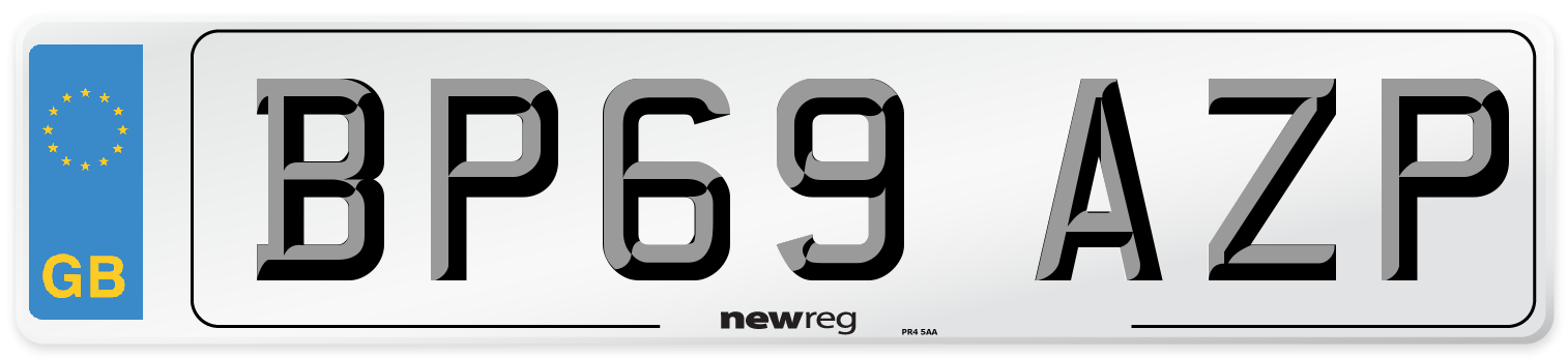 BP69 AZP Number Plate from New Reg