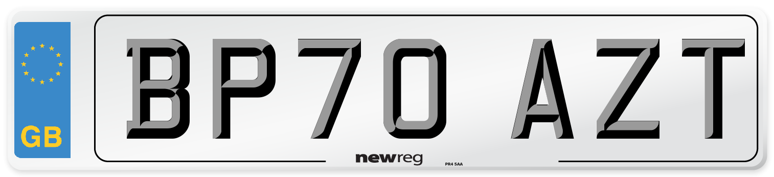 BP70 AZT Number Plate from New Reg