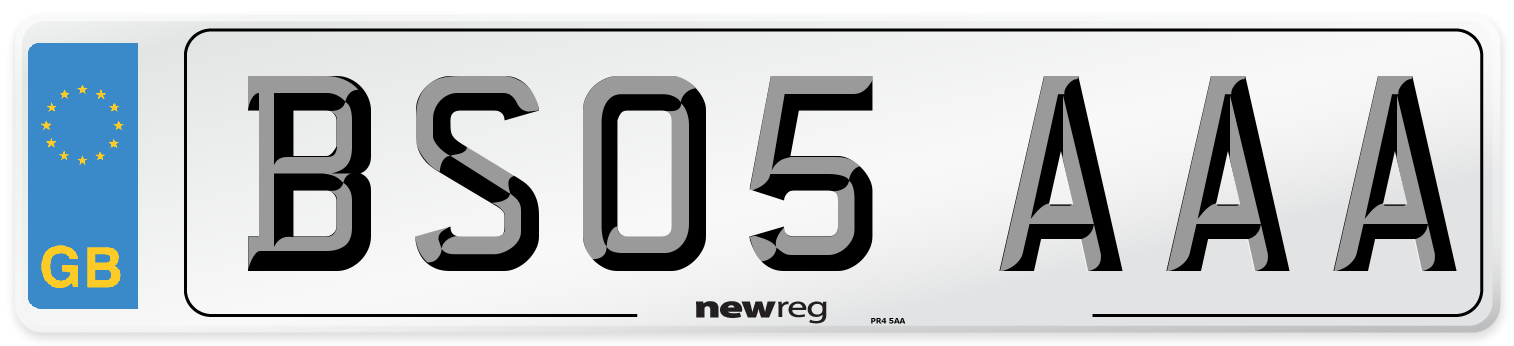 BS05 AAA Number Plate from New Reg