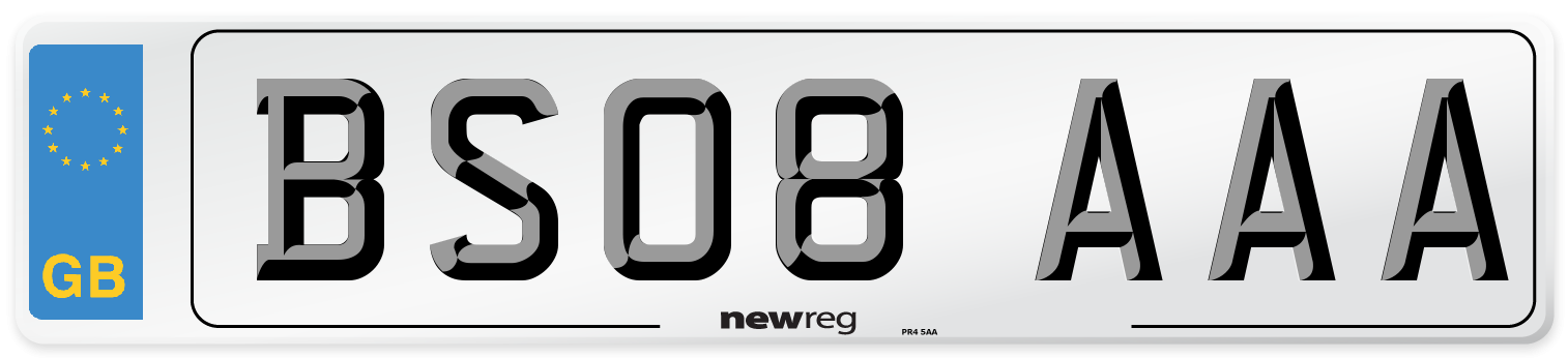 BS08 AAA Number Plate from New Reg