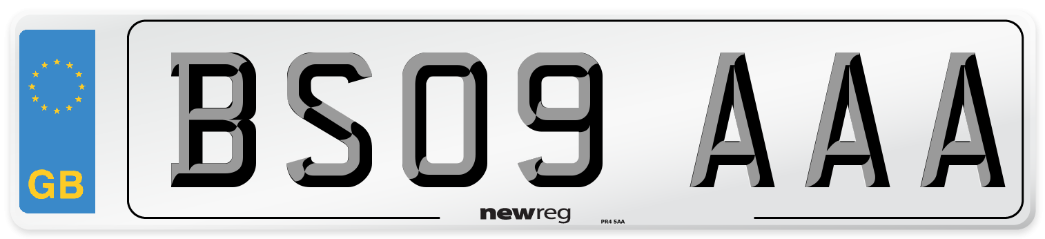 BS09 AAA Number Plate from New Reg