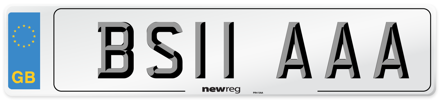 BS11 AAA Number Plate from New Reg