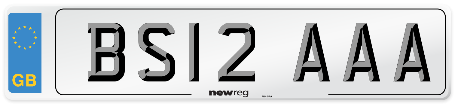 BS12 AAA Number Plate from New Reg