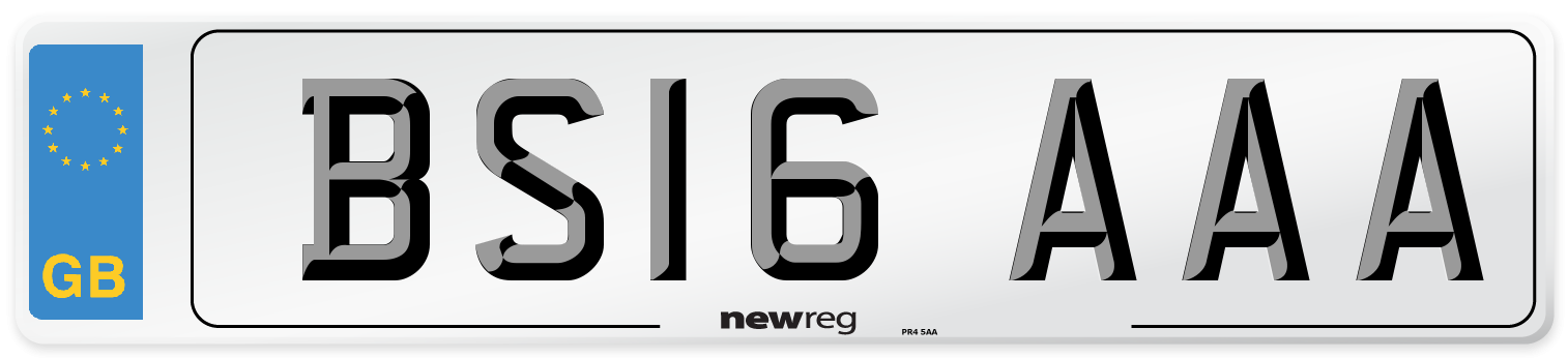 BS16 AAA Number Plate from New Reg