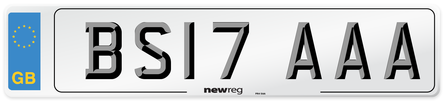 BS17 AAA Number Plate from New Reg