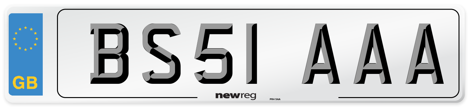 BS51 AAA Number Plate from New Reg